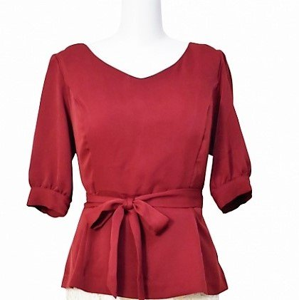 <img class='new_mark_img1' src='https://img.shop-pro.jp/img/new/icons11.gif' style='border:none;display:inline;margin:0px;padding:0px;width:auto;' />Peplmu blouse 18AW-Bordeaux-