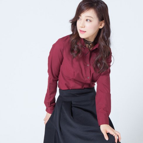 <img class='new_mark_img1' src='https://img.shop-pro.jp/img/new/icons57.gif' style='border:none;display:inline;margin:0px;padding:0px;width:auto;' />Shirt Blouse -Bordeaux-
