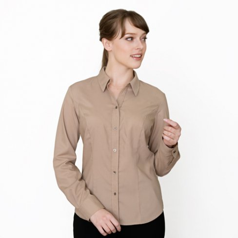 <img class='new_mark_img1' src='https://img.shop-pro.jp/img/new/icons57.gif' style='border:none;display:inline;margin:0px;padding:0px;width:auto;' />Shirt Blouse -Lightbrown-