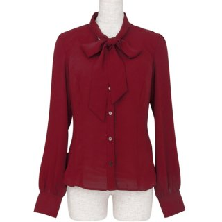 <img class='new_mark_img1' src='https://img.shop-pro.jp/img/new/icons11.gif' style='border:none;display:inline;margin:0px;padding:0px;width:auto;' />Bowtie blouse -Bordeaux-