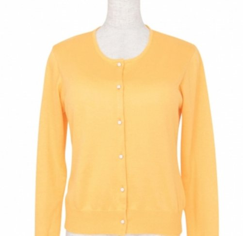 <img class='new_mark_img1' src='https://img.shop-pro.jp/img/new/icons11.gif' style='border:none;display:inline;margin:0px;padding:0px;width:auto;' />Cardigan Round neck -Yellow-