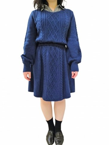 【7000円OFF】seriesE Emma's knit-Navy-