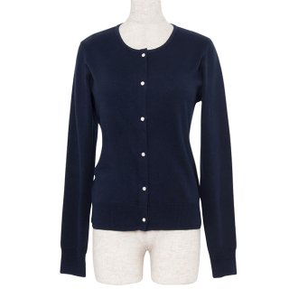 【4000円OFF】Cardigan Round neck -Navy-(19/02型)