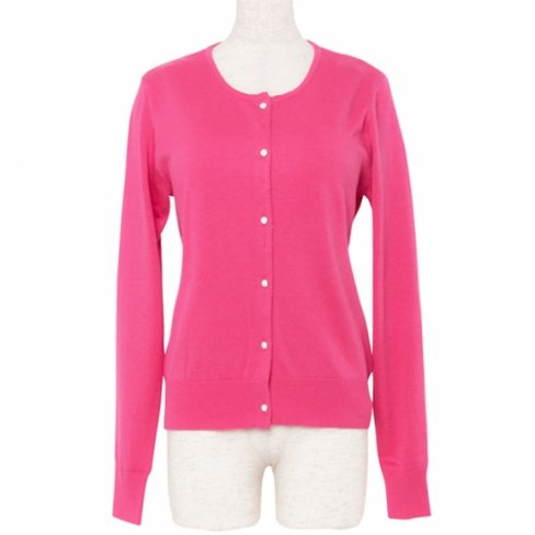 <img class='new_mark_img1' src='https://img.shop-pro.jp/img/new/icons11.gif' style='border:none;display:inline;margin:0px;padding:0px;width:auto;' />Cardigan Round neck -Pink-