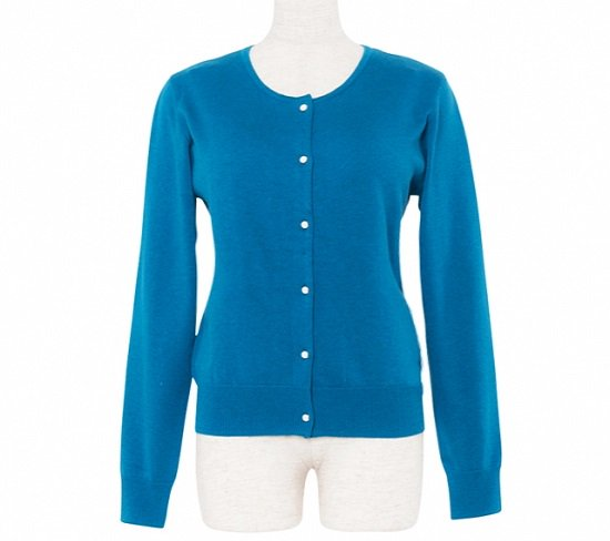 <img class='new_mark_img1' src='https://img.shop-pro.jp/img/new/icons11.gif' style='border:none;display:inline;margin:0px;padding:0px;width:auto;' />Cardigan Round neck -Turquoise-