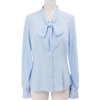 【30%OFF】Bowtie blouse -Light Blue-
