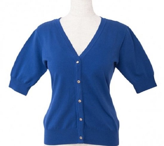 <img class='new_mark_img1' src='https://img.shop-pro.jp/img/new/icons11.gif' style='border:none;display:inline;margin:0px;padding:0px;width:auto;' />【30%OFF】Cardigan V neck (5部袖)-Royal Blue-(19/05型)