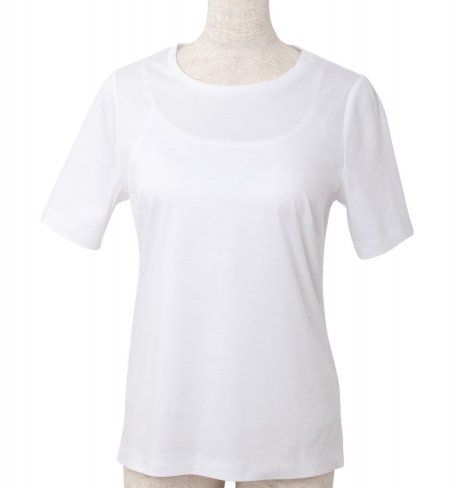 <img class='new_mark_img1' src='https://img.shop-pro.jp/img/new/icons11.gif' style='border:none;display:inline;margin:0px;padding:0px;width:auto;' />T-shirt Round neck -White-