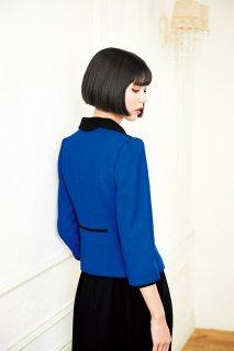 【ユー・ファクトリー×マリークヮント】M43034 ジャケット(青)【グリーン購入法対応・ホームウォッシャブル】
