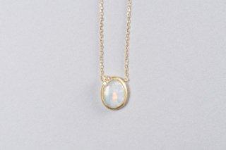 Welles オパールとダイヤモンド 小花のネックレス1