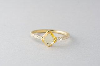 Rohmer イエローサファイアダイヤモンドリング
