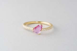 Rohmer ピンクサファイアダイヤモンドリング