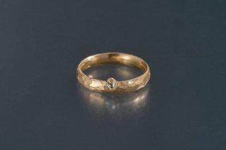 ダイヤモンド原石 槌目のリング