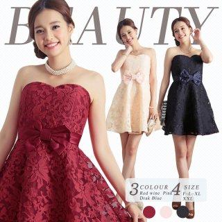 全3色 Sサイズ〜3Lまで 結婚式パーティードレス 謝恩会ドレス 成人式ドレス 10代 20代