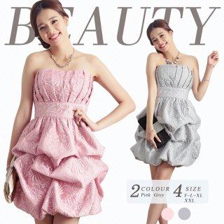 全2色 結婚式 パーティードレス 二次会ドレス 謝恩会ドレス 成人式ドレス バルーンドレス