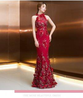 全2色 美ライン マーメイドラインロングドレス 結婚式 成人式 謝恩会ドレス 演奏会ドレス