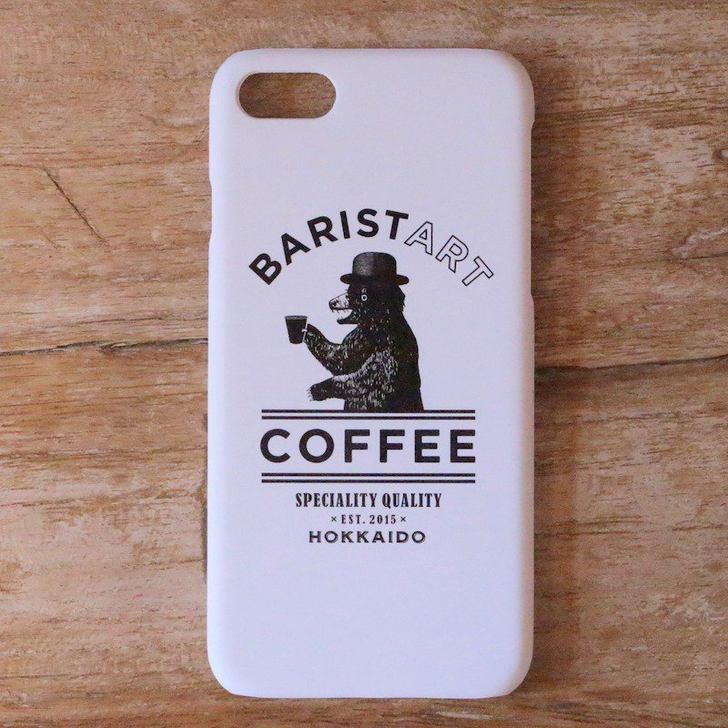 <img class='new_mark_img1' src='https://img.shop-pro.jp/img/new/icons8.gif' style='border:none;display:inline;margin:0px;padding:0px;width:auto;' />[BARISTART COFFEE] バリスタート コーヒー ORIGINAL iPhone CASE (WHITE)