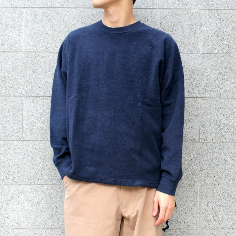 <img class='new_mark_img1' src='//img.shop-pro.jp/img/new/icons8.gif' style='border:none;display:inline;margin:0px;padding:0px;width:auto;' />[URU TOKYO] ウル CREW NECK SWEAT   (D RED. NAVY) - 17FUC04 /  -