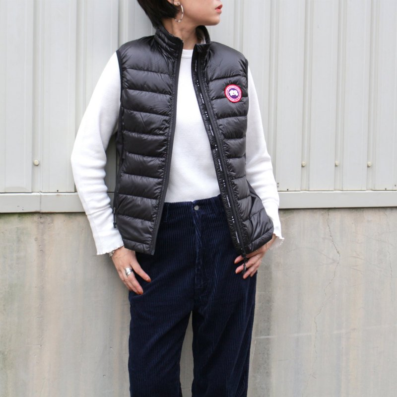 <img class='new_mark_img1' src='//img.shop-pro.jp/img/new/icons50.gif' style='border:none;display:inline;margin:0px;padding:0px;width:auto;' />[CANADA GOOSE] カナダグース HYBRIDGE LITE VEST 2702L (BLACK)