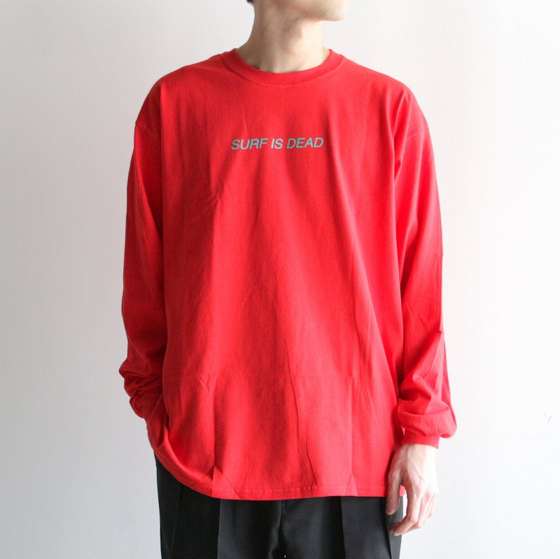[SALE][SURF IS DEAD] サーフ イズ デッド Asleep in the Alley L/S (FLAME) SDP17P4-12
