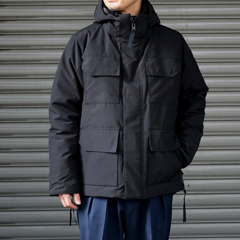 <img class='new_mark_img1' src='//img.shop-pro.jp/img/new/icons50.gif' style='border:none;display:inline;margin:0px;padding:0px;width:auto;' />[CANADA GOOSE] カナダグース MAITLAND PARKA  BLACK LABEL 4550MB (BLACK)