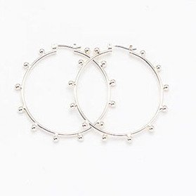 [Soierie] ソワリー Gravel hoop pierce (large/SILVER)