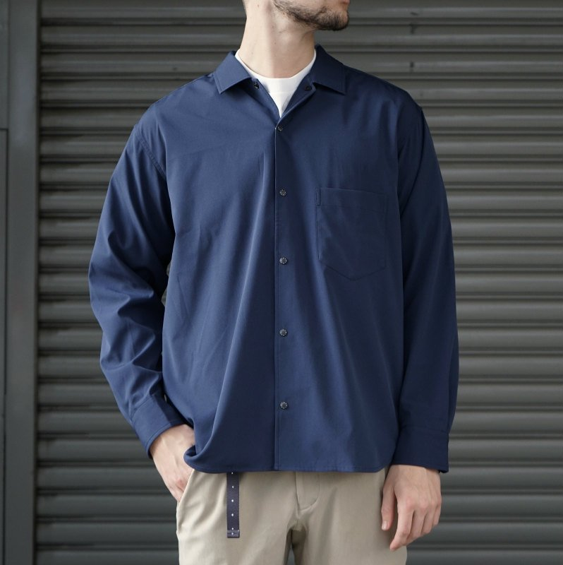 <img class='new_mark_img1' src='https://img.shop-pro.jp/img/new/icons56.gif' style='border:none;display:inline;margin:0px;padding:0px;width:auto;' />[O-] オー BAGGY SHIRT (NAVY)