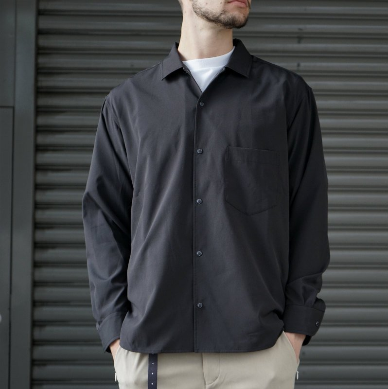<img class='new_mark_img1' src='https://img.shop-pro.jp/img/new/icons56.gif' style='border:none;display:inline;margin:0px;padding:0px;width:auto;' />[O-] オー BAGGY SHIRT (BLACK)