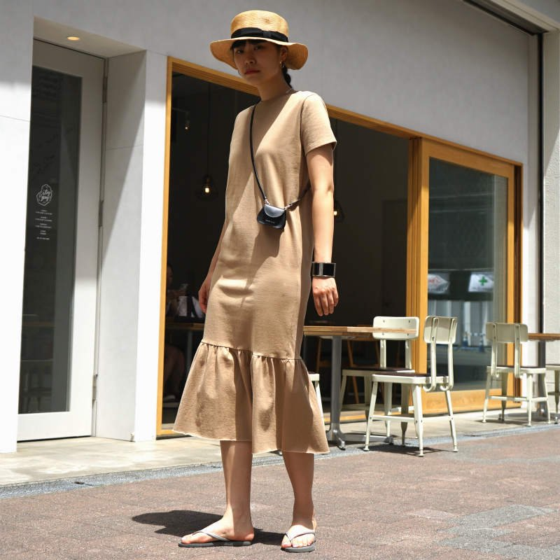 [RIM.ARK]リムアーク Hem Flare Cut One-piece(BEIGE)