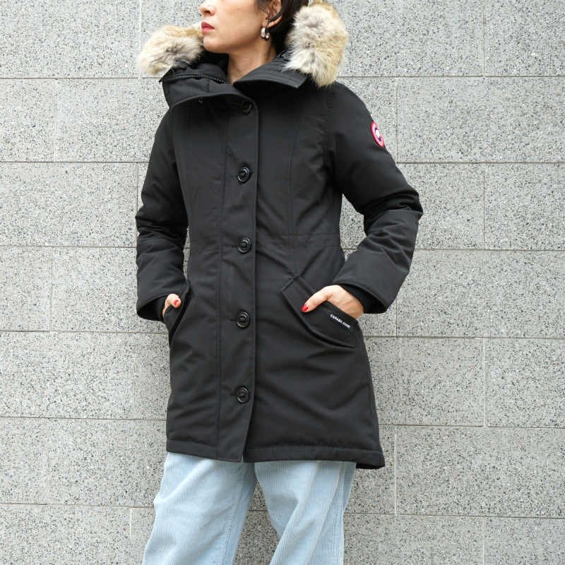 <img class='new_mark_img1' src='https://img.shop-pro.jp/img/new/icons50.gif' style='border:none;display:inline;margin:0px;padding:0px;width:auto;' />[CANADA GOOSE] カナダグース ROSSCLAIR PARKA FF 2580LA (BLACK)