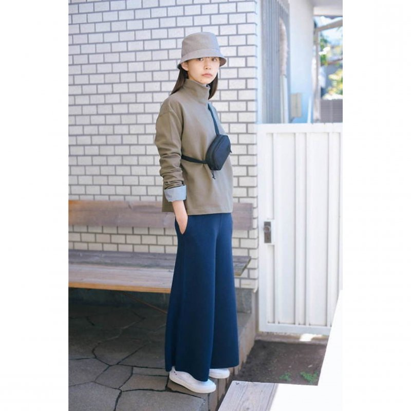 <img class='new_mark_img1' src='https://img.shop-pro.jp/img/new/icons8.gif' style='border:none;display:inline;margin:0px;padding:0px;width:auto;' />[MY] マイ EASY KNIT PANTS (NAVY・BROWN) 193-61505