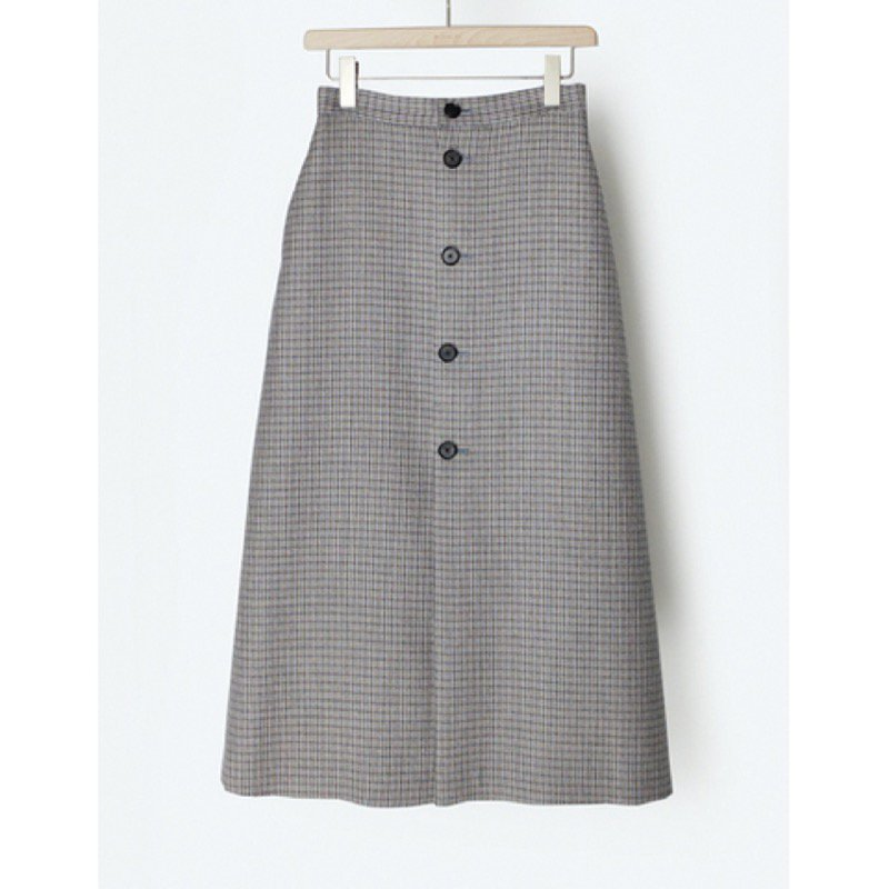 <img class='new_mark_img1' src='https://img.shop-pro.jp/img/new/icons24.gif' style='border:none;display:inline;margin:0px;padding:0px;width:auto;' />[SALE][AURALEE]  DOUBLE FACE CHECK SKIRT (LIGHT BLUE GUNCLUB CHECK・BROWN CHECK) A9AS04BN -WOMENS-