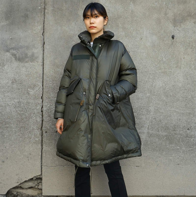 <img class='new_mark_img1' src='https://img.shop-pro.jp/img/new/icons6.gif' style='border:none;display:inline;margin:0px;padding:0px;width:auto;' />[sacai] サカイ SCW-036 Nylon Down Coat(Khaki)