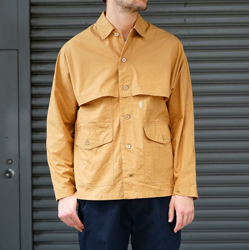 [SALE][S H] エス エイチ   MACKINAW SHIRT (CAMEL) SH-FLSN-001