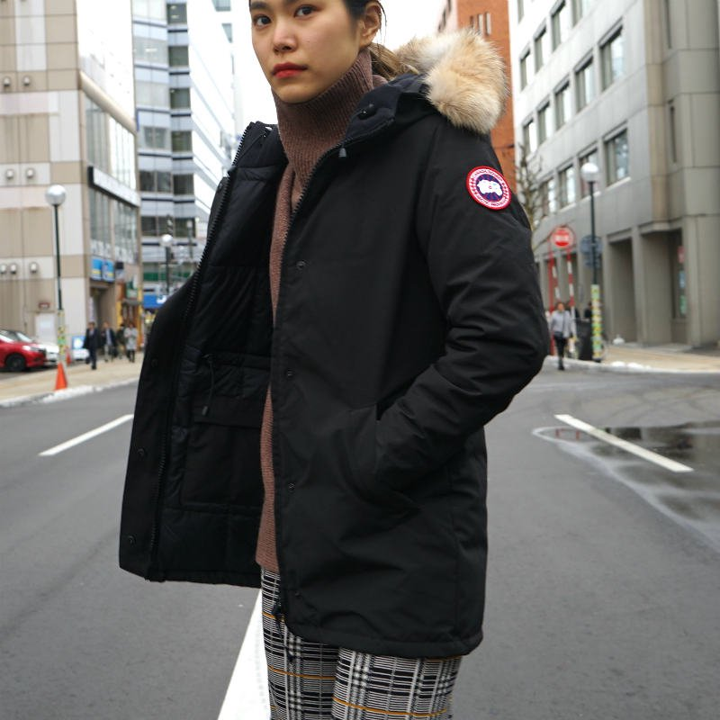 <img class='new_mark_img1' src='https://img.shop-pro.jp/img/new/icons50.gif' style='border:none;display:inline;margin:0px;padding:0px;width:auto;' />[CANADA GOOSE] カナダグース VICTORIA PARKA FF 3037LA (BLACK)