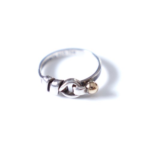 <img class='new_mark_img1' src='https://img.shop-pro.jp/img/new/icons6.gif' style='border:none;display:inline;margin:0px;padding:0px;width:auto;' />[VINTAGE Tiffany&Co.] flat and wire ring combi (Silver×Gold)