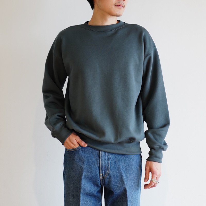 <img class='new_mark_img1' src='https://img.shop-pro.jp/img/new/icons8.gif' style='border:none;display:inline;margin:0px;padding:0px;width:auto;' />[AURALEE] オーラリー POLYESTER SWEAT P/O (LIGHT KHAKI・BLUE GRAY) A20SP02PU -MENS-