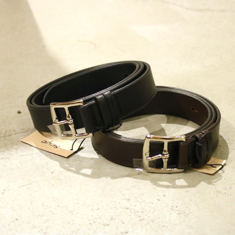 <img class='new_mark_img1' src='https://img.shop-pro.jp/img/new/icons8.gif' style='border:none;display:inline;margin:0px;padding:0px;width:auto;' />[Scye] サイ New Basic Belt (BLACK・DARK BROWN) 3320-31303