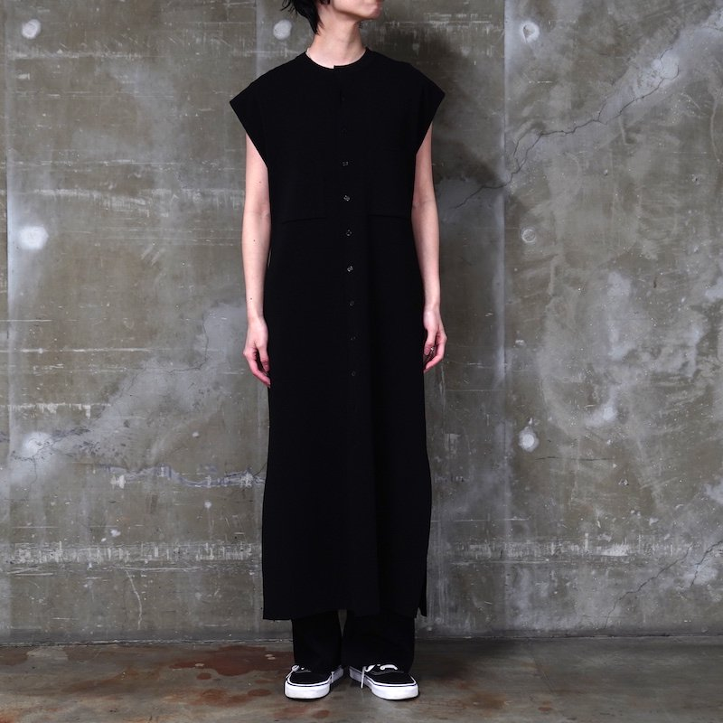 <img class='new_mark_img1' src='https://img.shop-pro.jp/img/new/icons8.gif' style='border:none;display:inline;margin:0px;padding:0px;width:auto;' />[AURALEE]  WOOL POLYESTER RIB KNIT SLEEVELESS LONG ONE-PIECE (CORAL ORANGE・BLACK) A20SP02SL -WOMENS-
