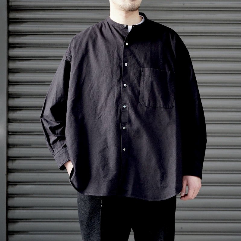 <img class='new_mark_img1' src='https://img.shop-pro.jp/img/new/icons50.gif' style='border:none;display:inline;margin:0px;padding:0px;width:auto;' />[Graphpaper] Oxford Oversized Bandcollar Shirt  (各色)