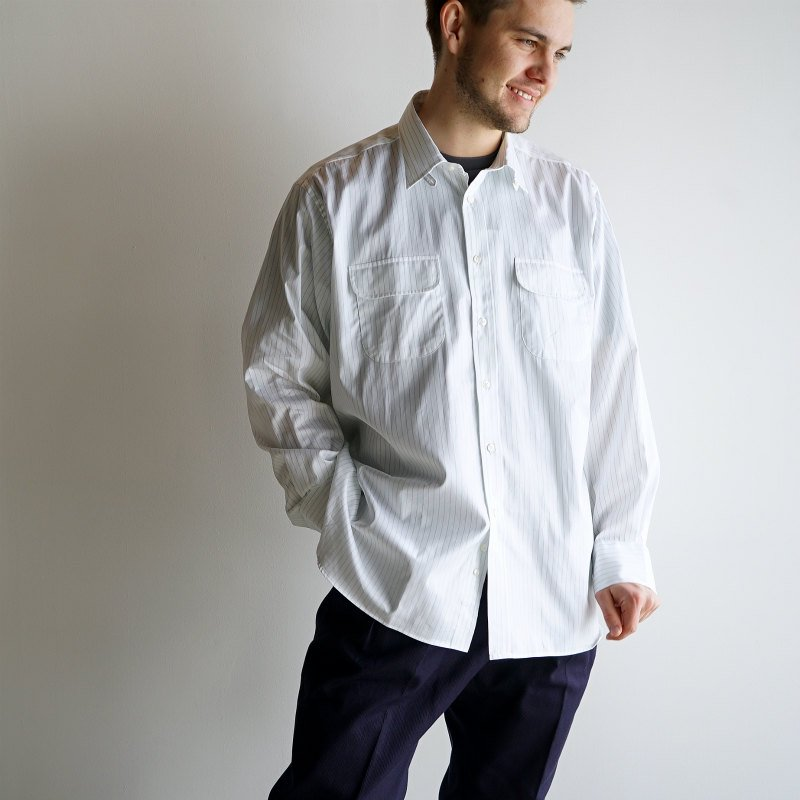 <img class='new_mark_img1' src='https://img.shop-pro.jp/img/new/icons8.gif' style='border:none;display:inline;margin:0px;padding:0px;width:auto;' />[DRESS] ドレス Officer Tab Collar Shirt  (WHITE)