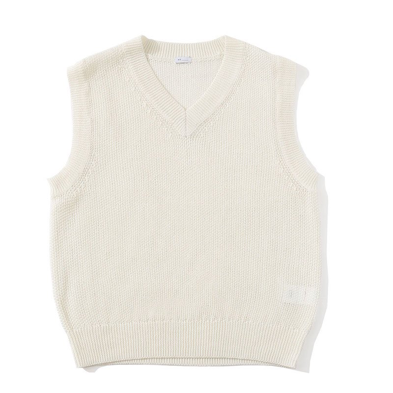 <img class='new_mark_img1' src='https://img.shop-pro.jp/img/new/icons8.gif' style='border:none;display:inline;margin:0px;padding:0px;width:auto;' />[MY] マイ KANOKO KNIT VEST (WHITE・GREEN) 201-61202
