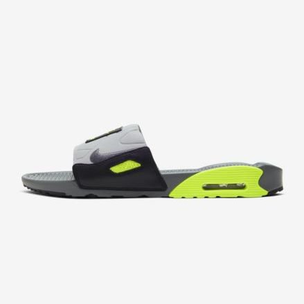 <img class='new_mark_img1' src='https://img.shop-pro.jp/img/new/icons8.gif' style='border:none;display:inline;margin:0px;padding:0px;width:auto;' /> [NIKE] AIR MAX 90 SLIDE BQ4635-001 (SMOKE GREY/SMOKE GREY/VOLT)