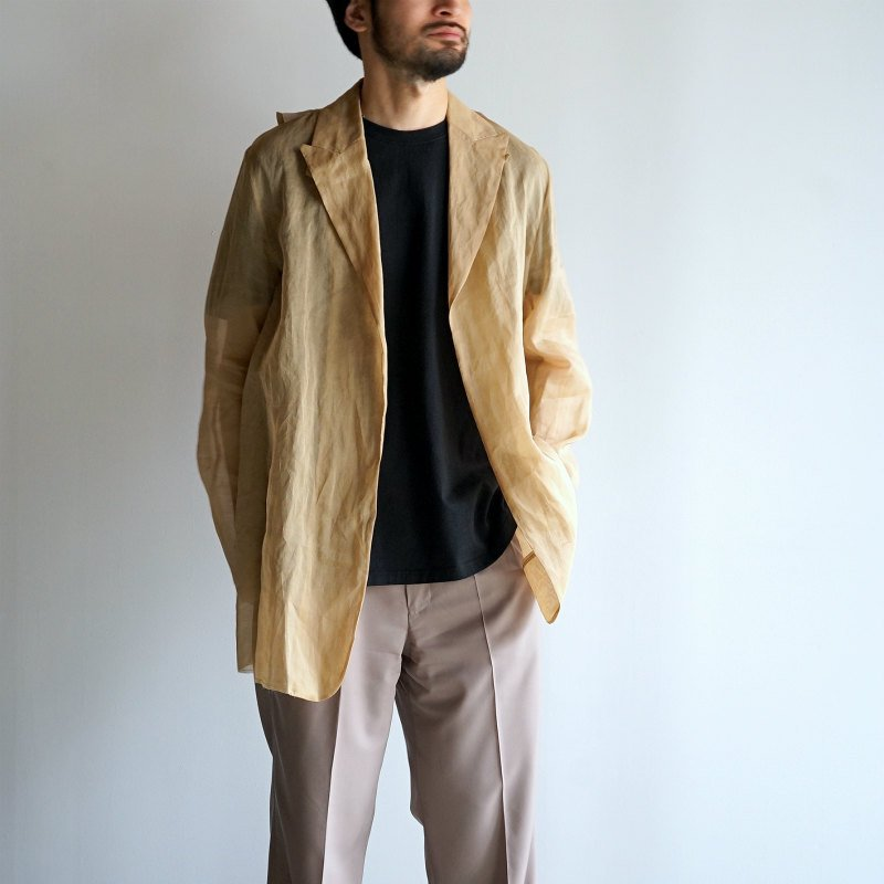 <img class='new_mark_img1' src='https://img.shop-pro.jp/img/new/icons8.gif' style='border:none;display:inline;margin:0px;padding:0px;width:auto;' />[Midorikawa] See-through Jacket (BEIGE)  MID20SS-JK07A