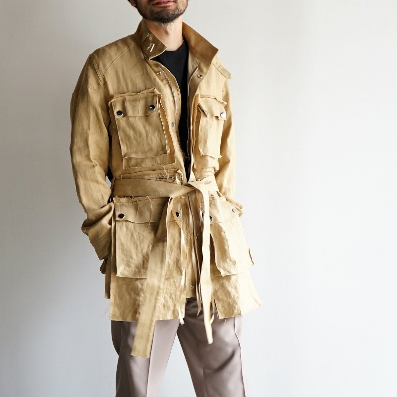 <img class='new_mark_img1' src='https://img.shop-pro.jp/img/new/icons23.gif' style='border:none;display:inline;margin:0px;padding:0px;width:auto;' />[SALE][Midorikawa] Motor Cycle Jacket (BEIGE)  MID20SS-JK09A