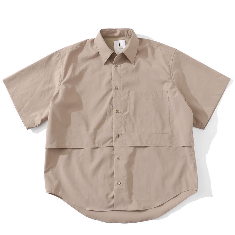 <img class='new_mark_img1' src='https://img.shop-pro.jp/img/new/icons8.gif' style='border:none;display:inline;margin:0px;padding:0px;width:auto;' />[I] アイ VENTILATION S/S SHIRT (BEIGE・WHITE) 201-20305