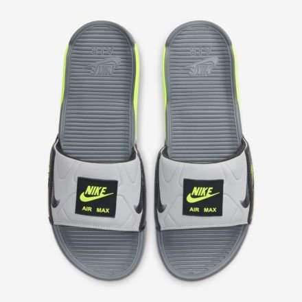 <img class='new_mark_img1' src='https://img.shop-pro.jp/img/new/icons6.gif' style='border:none;display:inline;margin:0px;padding:0px;width:auto;' /> [NIKE] AIR MAX 90 SLIDE BQ4635-001 (SMOKE GREY/SMOKE GREY/VOLT)