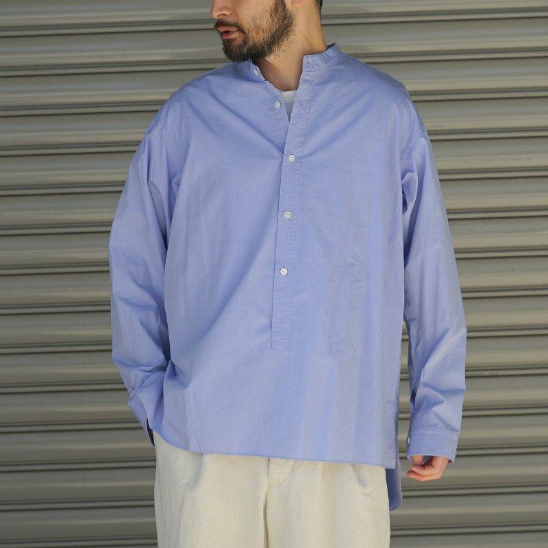 <img class='new_mark_img1' src='https://img.shop-pro.jp/img/new/icons8.gif' style='border:none;display:inline;margin:0px;padding:0px;width:auto;' />[RAKINES] ラキネス KJ trinity chambray Pullover shirt (SAX)