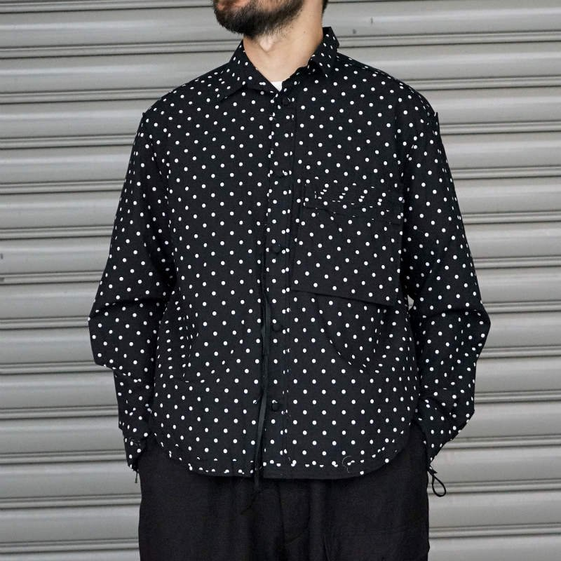 <img class='new_mark_img1' src='https://img.shop-pro.jp/img/new/icons8.gif' style='border:none;display:inline;margin:0px;padding:0px;width:auto;' />[Midorikawa] PRINT SHIRT (BLACK / WHITE)  MID20SS-SH04 A