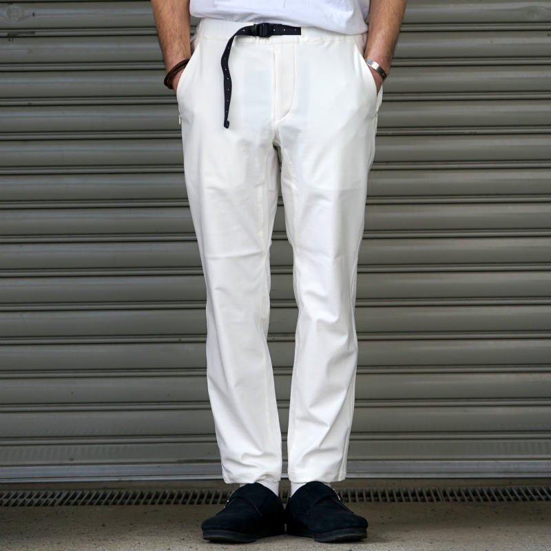 <img class='new_mark_img1' src='https://img.shop-pro.jp/img/new/icons8.gif' style='border:none;display:inline;margin:0px;padding:0px;width:auto;' />[O-] オー Narrow Easy Pants (WHITE)